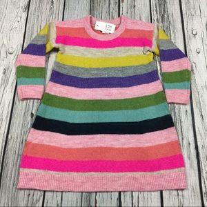 Gap Girls 2T 3T Bright Striped Sweater Dress